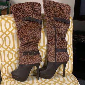 Justfab leopard boots
